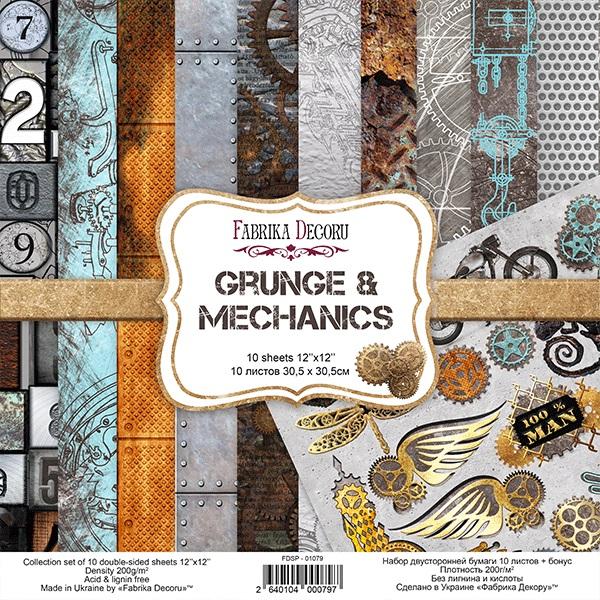 """Pad Fabrika Decoru 12x12"""" Grunge & Mechanics"""